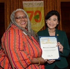 Renatta presented with a Certificate of Congressional Recognition from U.S. Congresswoman Judy Chu
